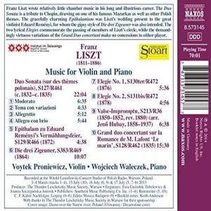 Liszt - back cover